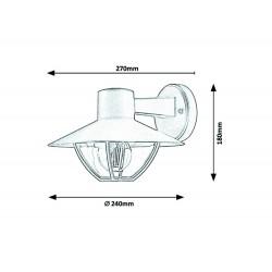 Aplica Exterior Rabalux Almada 7884 E27, Maro, Aluminiu, Ungaria