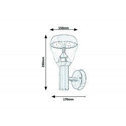 Aplica Exterior Rabalux Amalfi 7919 LED, Crom Satin, Oĺłel Inoxidabil, Ungaria