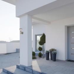 Aplica Exterior Rabalux Amalfi 7920 LED, Crom Satin, Oĺłel Inoxidabil, Ungaria