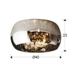 Lustra Plafon ARGOS Schuller G9, Crom 507939 Spania