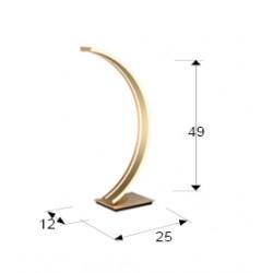 Veioza ARCUS Schuller Led, Auriu 589316 Spania