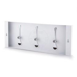 Cuier De Perete Bin 3 White , 0734, Tomasucci Italia, Metal Vopsit Alb